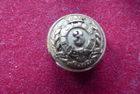 3rd Bengal European Infantry 18mm officer's button