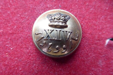 14th Madras Infantry, officer's 23mm button