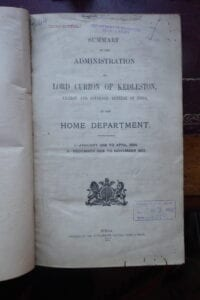 Lord Curzon's Indian Ad ministration. The official account.