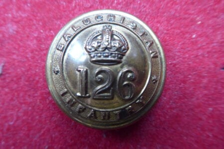 126th Baluchistan Infantry. Officer's 27mm button