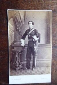 Officer of lancers, circa 1865-75