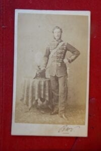 11th Hussars. A cdv of a named captain in about 1870