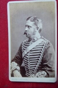 Royal Horse Artillery captain, photographed in India