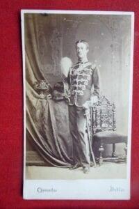 11th Hussars, a very good cdv of an officer in dress uniform