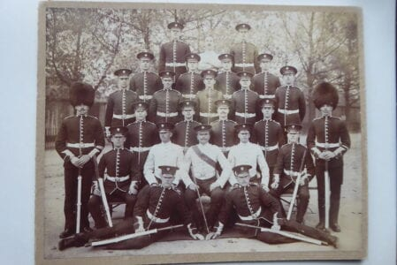 Grenadier Guards. A group, probably a training squad, circa 1900