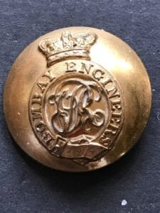 Bombay Engineers, Victorian officer's large 24mm button