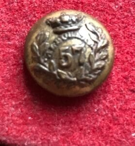 57th ( Middllesex Regt ) officer's coatee button, 17mm